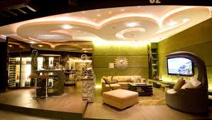 Stunning Ceiling Design Using LED Lighting For Luxury Living Room Rustic