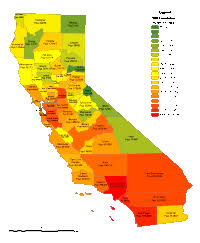 California County Populations Map