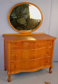 608 birds eye maple serpentine front dresser with oval mirror 64