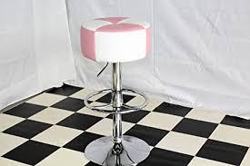 just americana american diner furniture 50er jahre retro barhocker hocker rund rosa