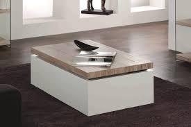 table basse design scandinave blanche et bois jarka gdegdesign