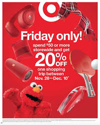 Expired] [Live, Works With GCs] Target: Spend $50 On 11/24 ... 20 Off Target Coupon When You Spend 50 On Black Friday Coupons Weekly Matchup All Things Gymboree Code February 2018 Laloopsy Doll Black Showpo Discount Codes October 2019 Findercom Promo And Discounts Up To 40 Instantly 36 Couponing Challenges For The New Year The Krazy Coupon Lady Best Cyber Monday Sales From Stores Actually Worth Printablefreechilis Coupons M5 Anthesia Deals Baby Stuff Biggest Discounts Sephora Sale Home Depot August Codes Blog How Boost Your Ecommerce Stores Seo By Offering Promo