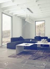 up illuminated wohnzimmer mit elegante schwarzweiss möbel und kronleuchter an der decke hängende