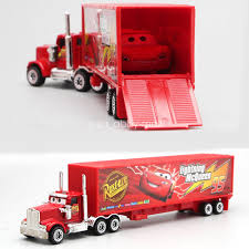Cars 2 Lightning McQueen Racer Car&Mack Truck Kids Toy 7pcs/Set ...