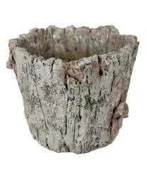 625 X 75 Cement Tree Bark Pot Grey