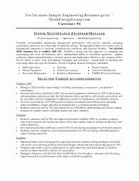 Simple Facility Maintenance Supervisor Resume Sample For Your Facilities Manager Skills Best Of Cover Letter