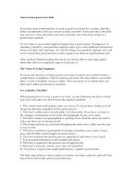 100 How To Write A Good Resume To Cover Letter Examples Wwweguidestogocom