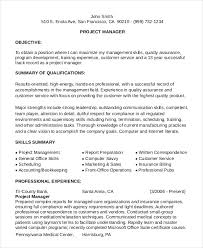 Project Manager Functional Resume