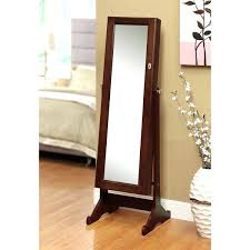 Pier One Dressing Mirror by Armoire Glass Jewelry Armoire White Black Oval Wardrobe Floor