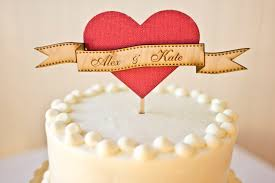 Creative Wedding Cake Toppers On Etsy Pinterest Rustic Heart