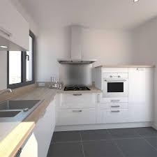 cuisine blanche plan travail bois enchanteur cuisine blanche plan de travail bois avec cuisine