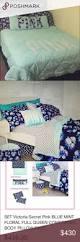 Victoria Secret Bedding Queen by Queen Full Comforter Set Pink White Black Kaiylen Floral Print 3