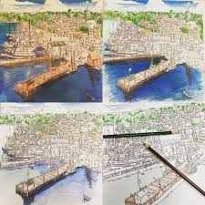 Fantastic Cities Great Page Adult ColoringColoring BooksColouringGrind