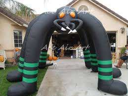 Large Blow Up Halloween Decorations by Outdoor Giant Airblown Inflatable Halloween Spider Archway With