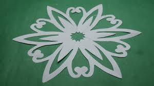 How To Make Simple Easy Paper Cutting Flower Designspaper FlowersDIY Instructions Step By