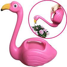 100 Indoor Watering Can Plastic Flamingo Decorative Elegant Pot For Outdoor
