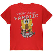 Spongebob Halloween Vhs And Dvd by Spongebob Squarepants Game Fanatic Youth T Shirt