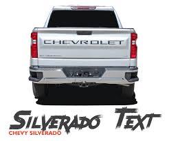 100 Truck Tailgate Decals CHEVROLET INSERTS LETTERS Silverado Silverado Vinyl Graphics