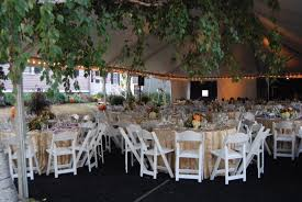White Wooden Garden Chairs Tent