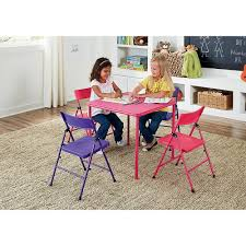 Cosco 5-Piece Kids Folding Table & Chair Set, Pink/Purple Set Of 3 Monterey Square White Wood Table And Chairs Pencil And In Color Small Chair Ding Gorgeous For Toddlers Fniture Dectable Folding Foldable Wooden Mid Century Modern Romian Gateleg Winsome Robin 4pc Parent Cosco 5piece Bridgeport 32inch Card Steel Target Piece Alinium Costco Kmart Africa South Childrens Adorable Child Antique Costway Pc Outdoor Rattan Wicker Bistro Patio Brown Details About Balcony Terrace Garden 2