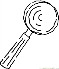 Magnifying Glass 08 Coloring Page