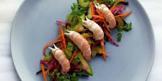huile de cameline cuisine recette légère salade de langoustines et légumes crus à l huile de