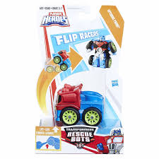 100 Rescue Bots Fire Truck Transformers Flip Racers Optimus Prime
