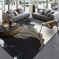 großhandel schwarz weiß wohnzimmer bereich teppiche landschaftsmalerei teppich gold leinen flur flurwappe tapete schlafzimmer nachts rutschfeste küche