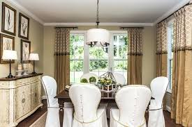 Wonderfull Design Formal Dining Room Window Treatments Curtains Bay