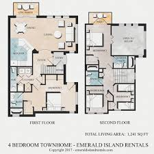 4 Bedroom Houses For Rent by Kissimmee Florida Holiday Homes Floor Plan