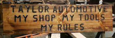 Man Cave Auto Shop Sign