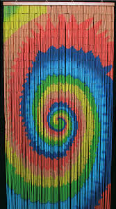 Doorway Beaded Curtains Wood by Spiral Tie Dye Wooden Door Beads