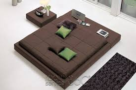 Squaring Isola Upholstered Tatami Bed by Bonaldo
