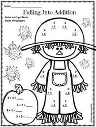Halloween Multiplication Worksheets Coloring by First Grade Thanksgiving Math Teaching Pinterest