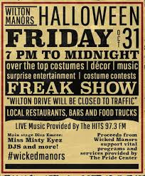 Wilton Manors Halloween by Wicked Manors Benefit For Pride Center Begins 7 P M Halloween On