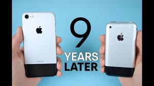 iPhone 7 vs Original iPhone 2G 9 Year parison