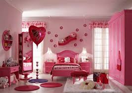 Cute Bedroom Ideas For Teenage Girls With Red And Pink Hello Kitty Decoration