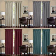 SML White Double Layer Lace Sheer Curtains Blackout Window Blind