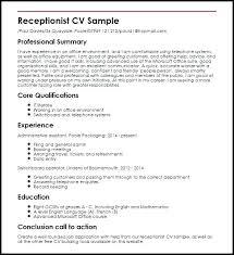 Resume Objective Examples Veterinary Receptionist For Job Description