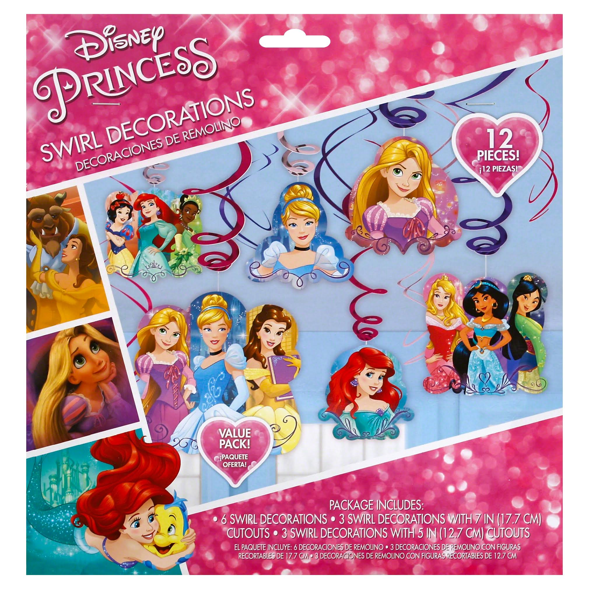 Amscan Disney Princess Hanging Party Decorations