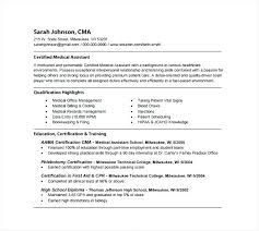 Resume Of A Medical Assistant Office Example Registered