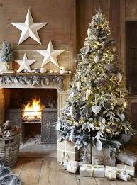 Rustic White Christmas Tree Decorations