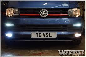 vw t6 transporter h11 led fog light bulbs 6000k canbus free error