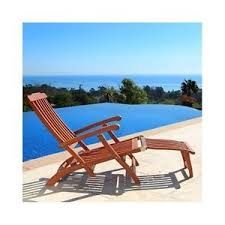 Image Is Loading Wooden Chaise Lounge Steamer Lounger Patio Deck Pool