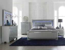 Ebay Furniture Bedroom Sets by Tyler 5 Pieces Bedroom Set Furniture Grey Queen Led Lighted
