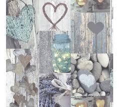 Arthouse Opera Rustic Heart Natural Wallpaper