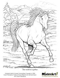Free Coloring Page Wonderful World Of Horses Book Download Crafts For Kids Dover Books