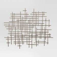 Target P Mid Century Metal Wall DecorGold