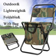 Portable Folding Chair Camping Fishing Hiking Stool Seat & Bag Outdoor  Travel