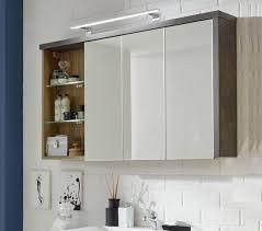 badezimmer spiegelschrank bay eiche riviera beton grau 125x70 cm